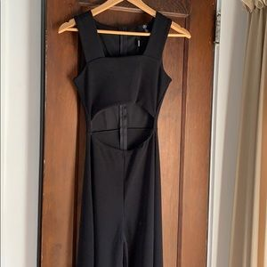 Misguided cut-out flare pant jumpsuit